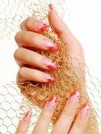 Гламурный летний дизайн для ногтей