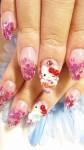 Дизайн ногтей в стиле Hello Kitty