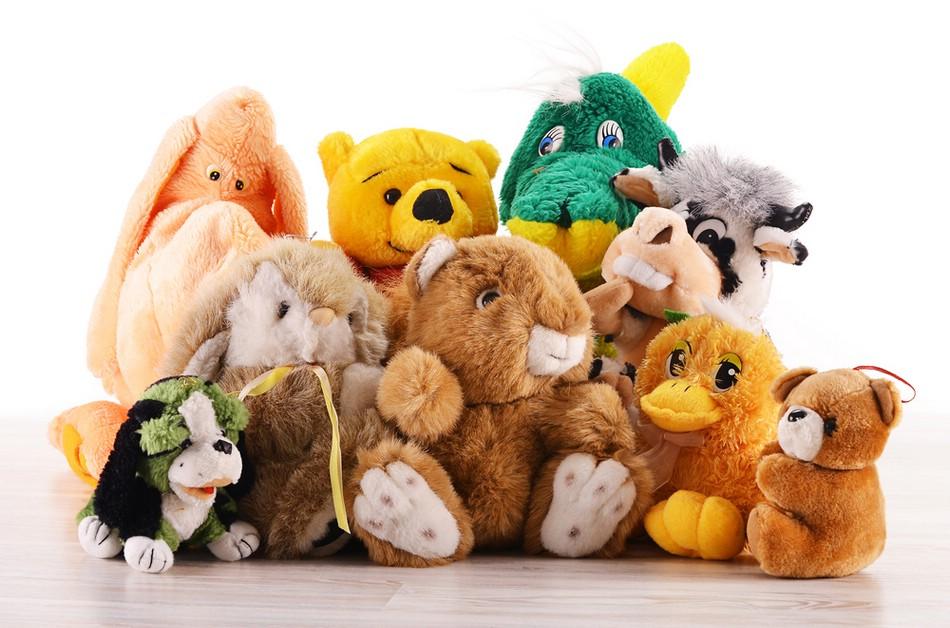 Мягкие игрушки нравятся детям