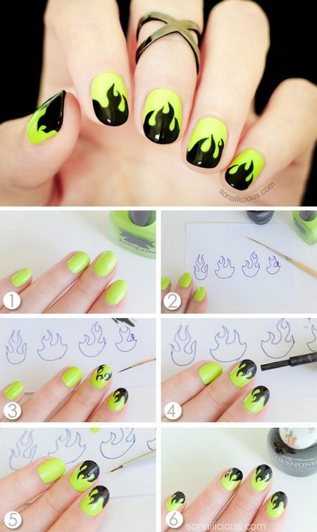 Рисунок на ногтях инструкция