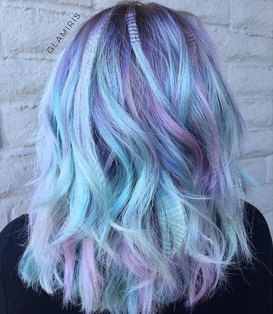 волосы разноцветные фото
