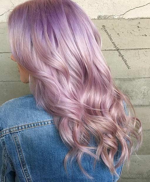 Лавандовый цвет волос