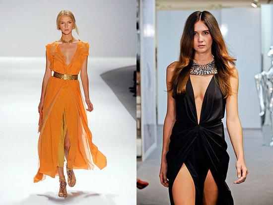 Модный вырез на платье фото