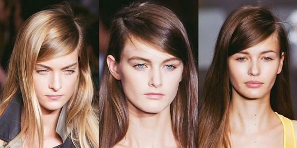Укладка с глубоким боковым пробором на прямых гладких волосах с показа DKNY. Пошаговая инструкция по укладке