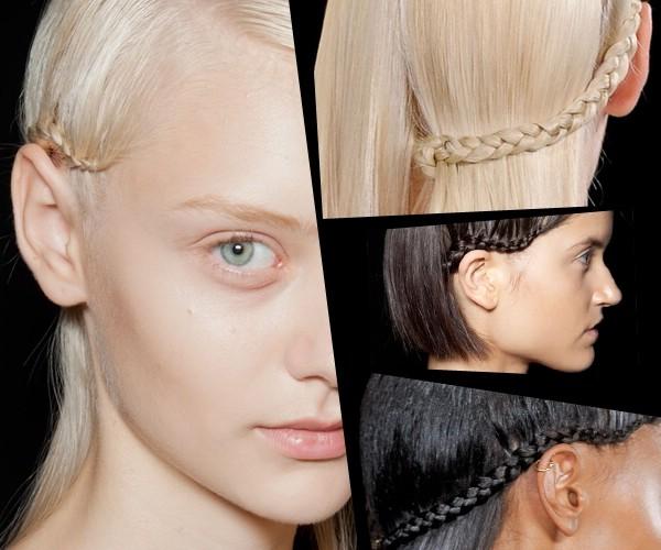 Модная прическа 2013 с полуобрамляющей косой. Пошаговая инструкция