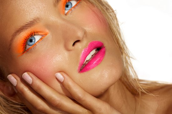 Цитрусовый макияж