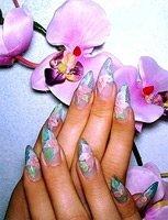 Острые ногти в русском стиле